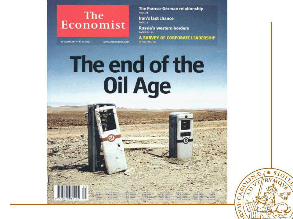 Problem Det kommer att bli brist på olja !