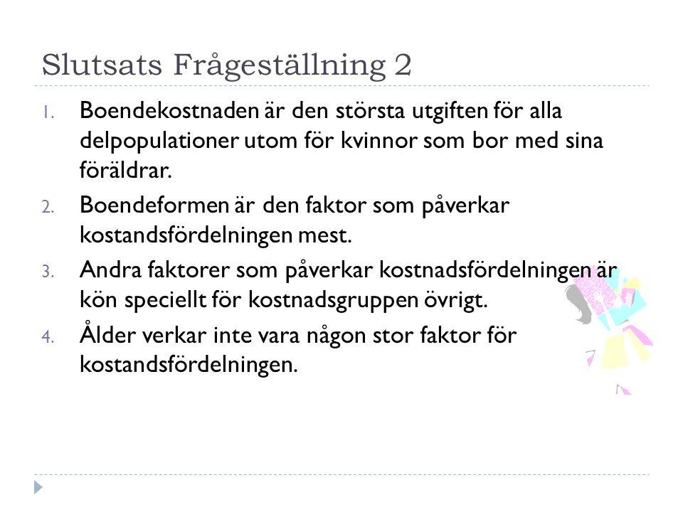 Slutsats Frågeställning 2 1.