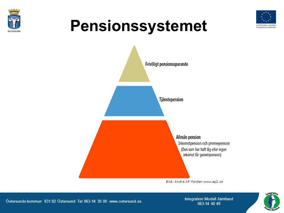 Östersunds kommun 831 82 Östersund Tel 063-14 30 00 www.ostersund.se Integration Modell Jämtland 063-14 40 49 Pensionssystemet Bild: Andra AP-fonden www.ap2.se