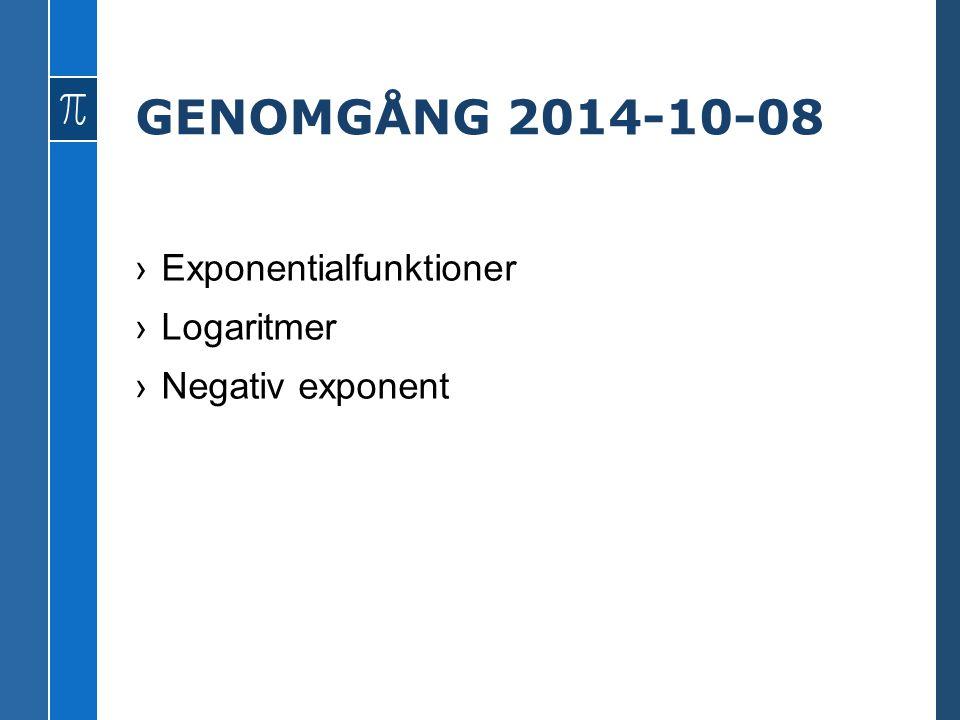 GENOMGÅNG 2014-10-08 ›Exponentialfunktioner ›Logaritmer ›Negativ exponent