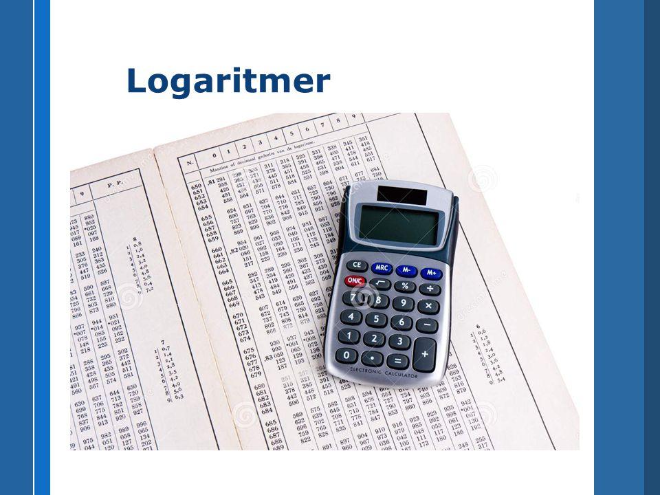 x är 10-logaritmen för 7 x är 8-logaritmen för 5