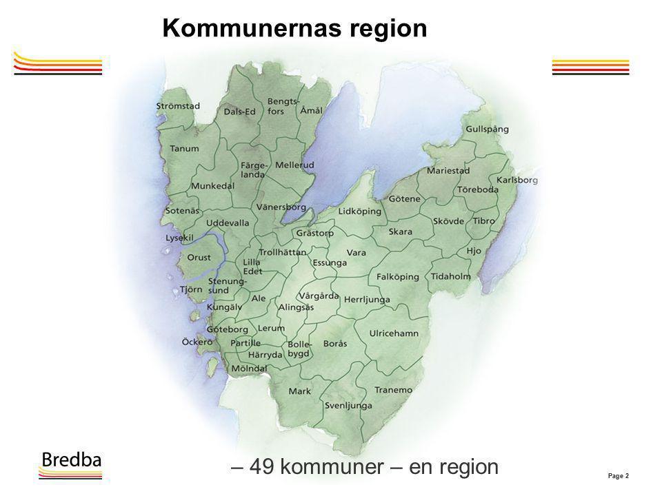 Page 2 Kommunernas region – 49 kommuner – en region