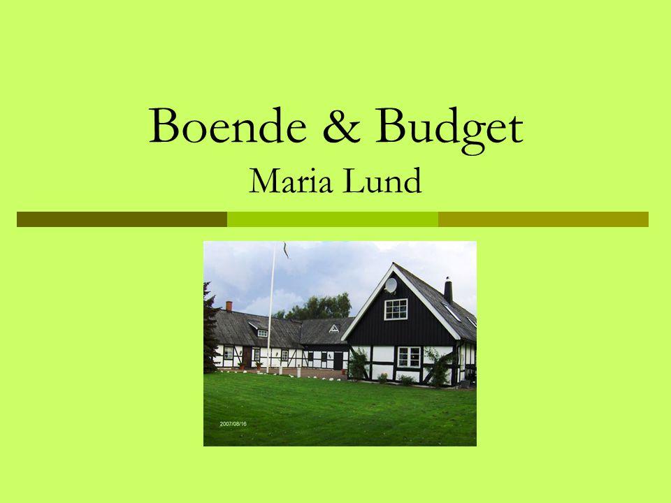 Boende & Budget Maria Lund