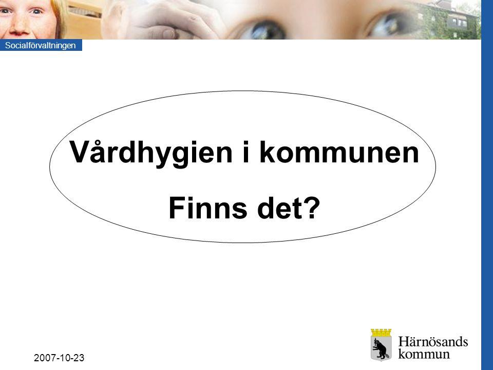 Socialförvaltningen 2007-10-23 SoL-sidan Kommunens HSL-ansvar Landstingets HSL-ansvar