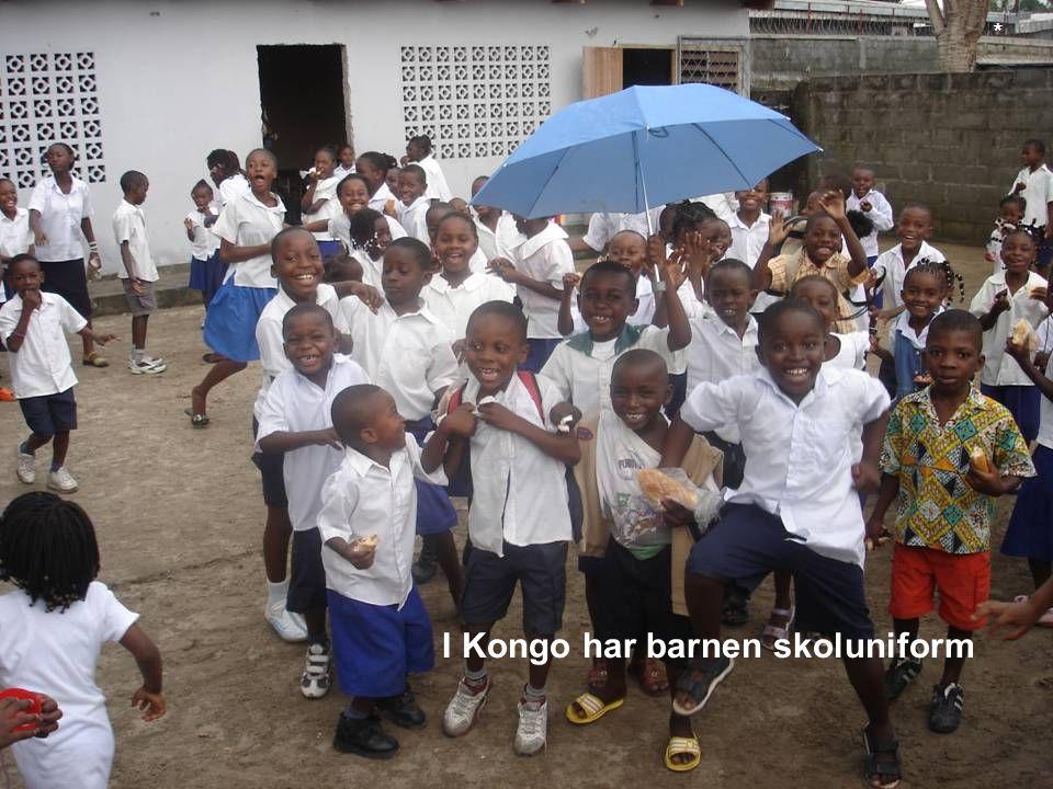 I Kongo har barnen skoluniform *