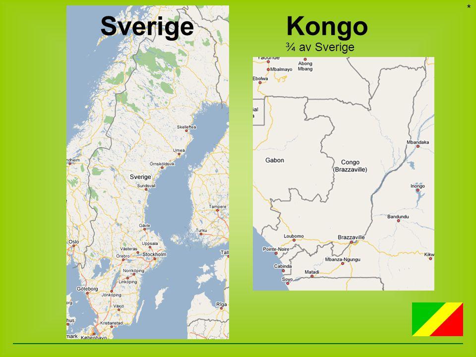Kongo Sverige ¾ av Sverige *