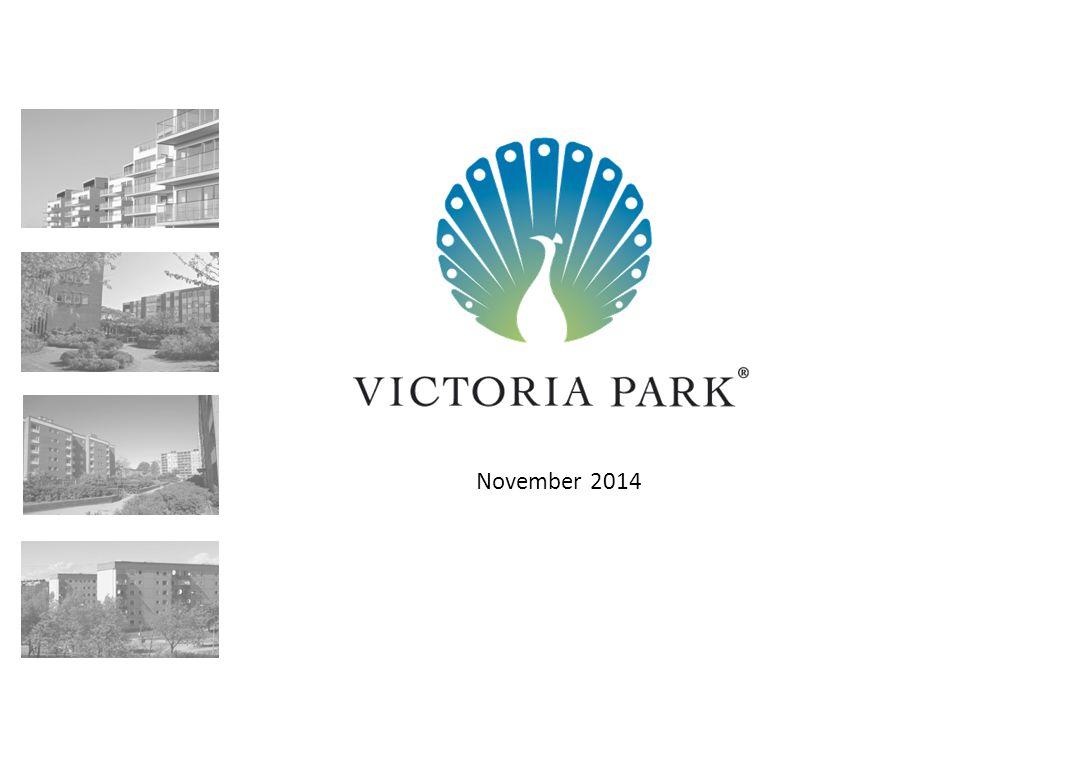 22 November 2014 │ Regional översikt Fastighetsportfölj 4 158 211 215 60 140 147 217 127 64 72 162 121  Portfölj med 48 fastigheter förvärvades i december 2013  Huvudsakligen bostadsfastigheter – 98% av total uthyrbar area  Brist på bostäder, även om underskottet förväntas minska fram till 2019 1  Victoria Park fokuserar för nuvarande på fastighetsförbättringar 52 494 Uthyrbar area (kvm) 734 Antal lägenheter 1 045 Bostadshyra (SEK/kvm) +0,2% Hyresprisutvec kling* *Q2'14 – Q3'14 Stadig ökning av genomsnittlig kötid I Tensta  Portfölj med 5 fastigheter i Tensta, förvärvades i december 2013  Cirka.