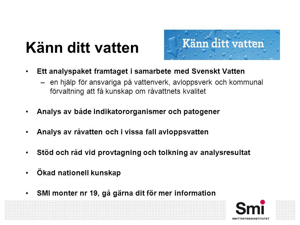 Känn ditt vatten Ett analyspaket framtaget i samarbete med Svenskt Vatten –en hjälp för ansvariga på vattenverk, avloppsverk och kommunal förvaltning