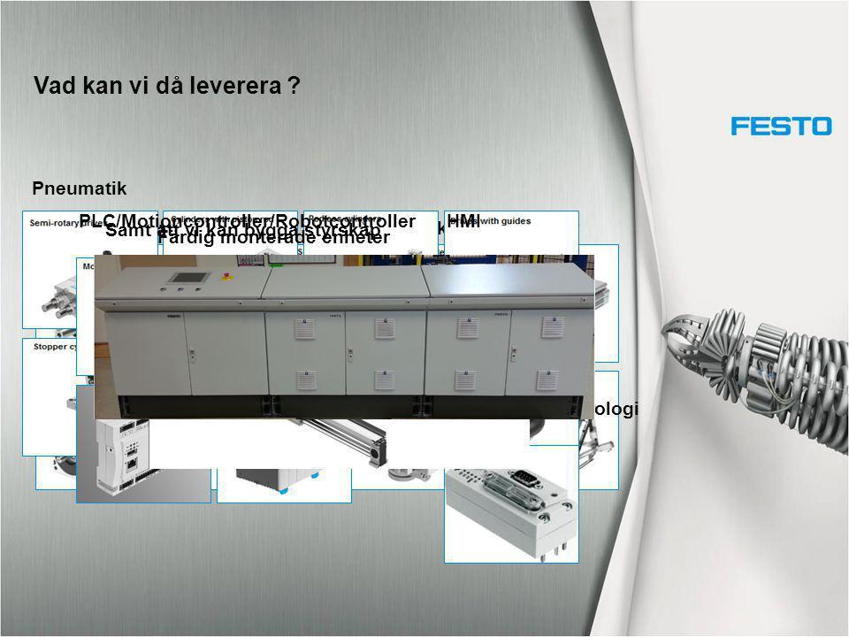 Motorer & DrivelektronikElektromekaniska enheter Pneumatik PLC/Motioncontroller/RobotcontrollerHMI Anslutningsteknologi Färdig monterade enheter Samt