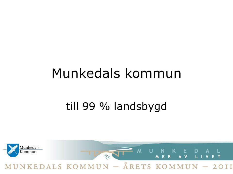Munkedals kommun till 99 % landsbygd