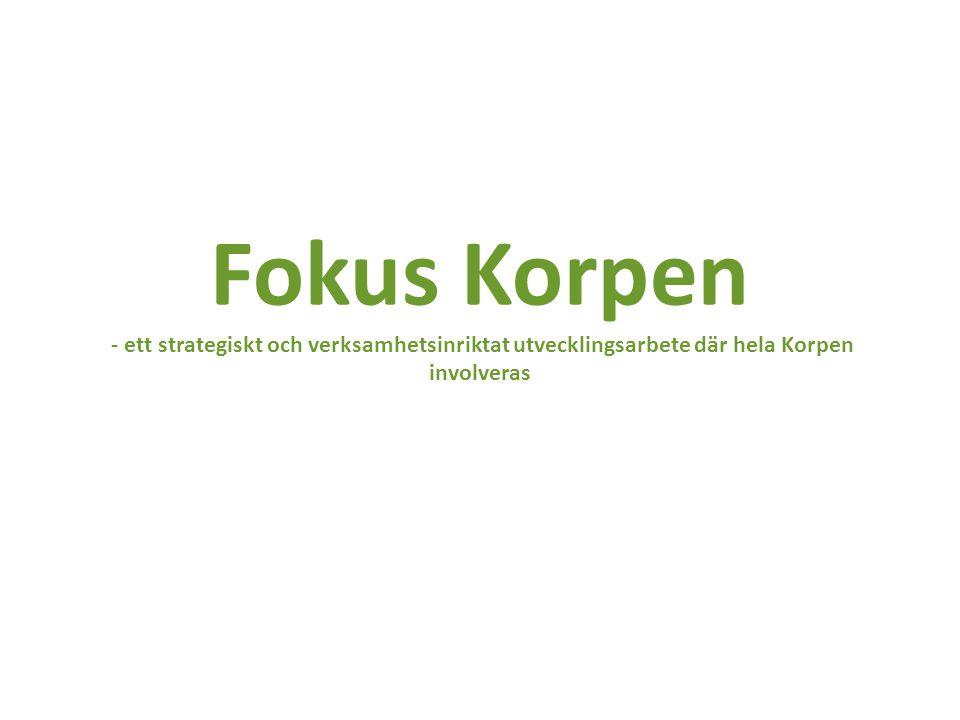Fokus Korpen - ett strategiskt och verksamhetsinriktat utvecklingsarbete där hela Korpen involveras