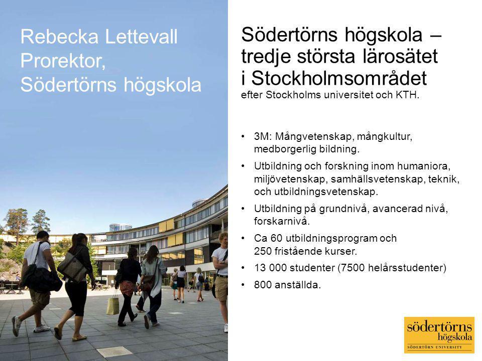 Södertörns högskola – tredje största lärosätet i Stockholmsområdet efter Stockholms universitet och KTH.