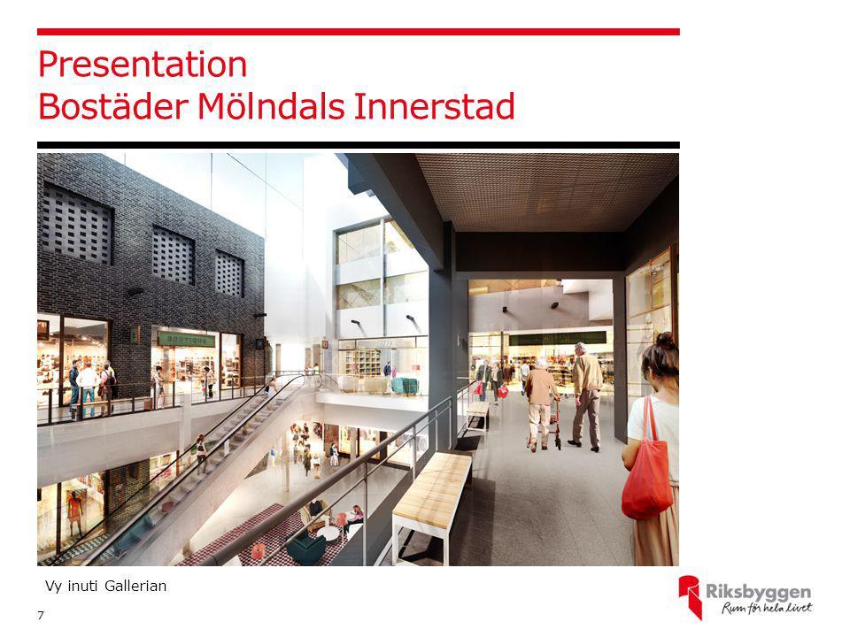 Presentation Bostäder Mölndals Innerstad 7 Vy inuti Gallerian