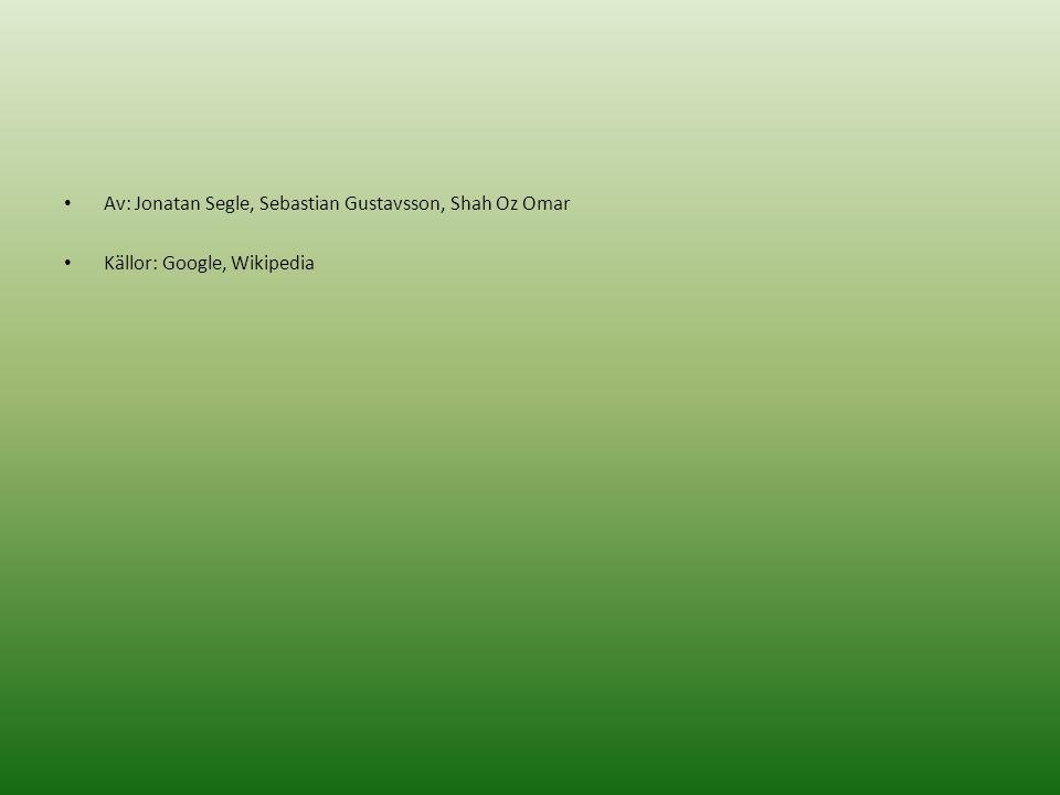 Av: Jonatan Segle, Sebastian Gustavsson, Shah Oz Omar Källor: Google, Wikipedia