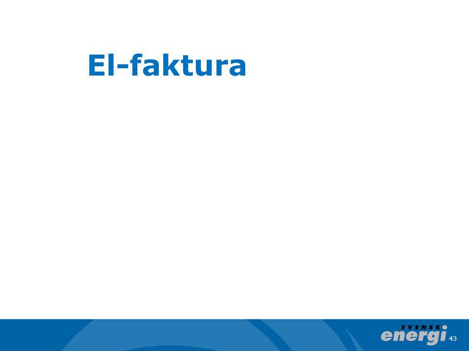43 El-faktura
