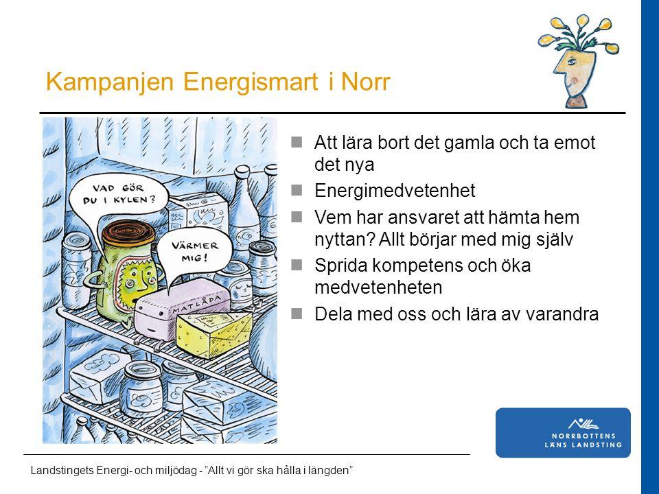 Läkarstudent i Norrbotten Att lära bort det gamla och ta emot det nya Energimedvetenhet Vem har ansvaret att hämta hem nyttan.