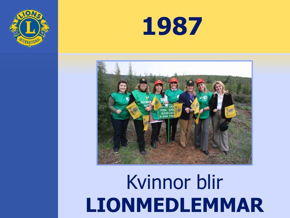 1987 Kvinnor blir LIONMEDLEMMAR