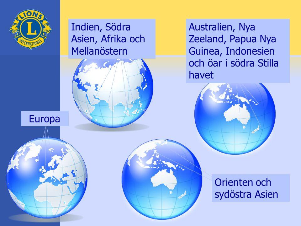 Indien, Södra Asien, Afrika och Mellanöstern Australien, Nya Zeeland, Papua Nya Guinea, Indonesien och öar i södra Stilla havet Orienten och sydöstra Asien Europa