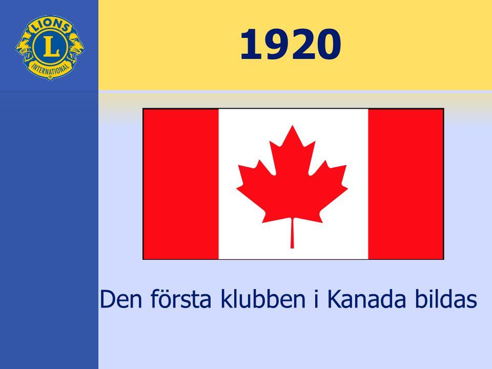 1920 Den första klubben i Kanada bildas