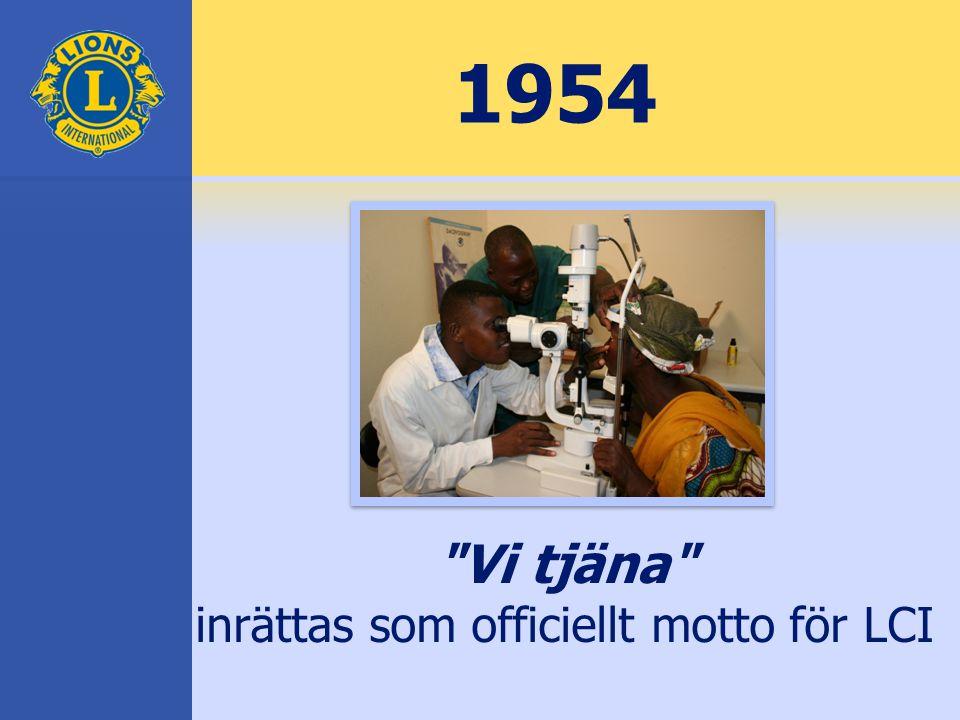 Vi tjäna inrättas som officiellt motto för LCI 1954