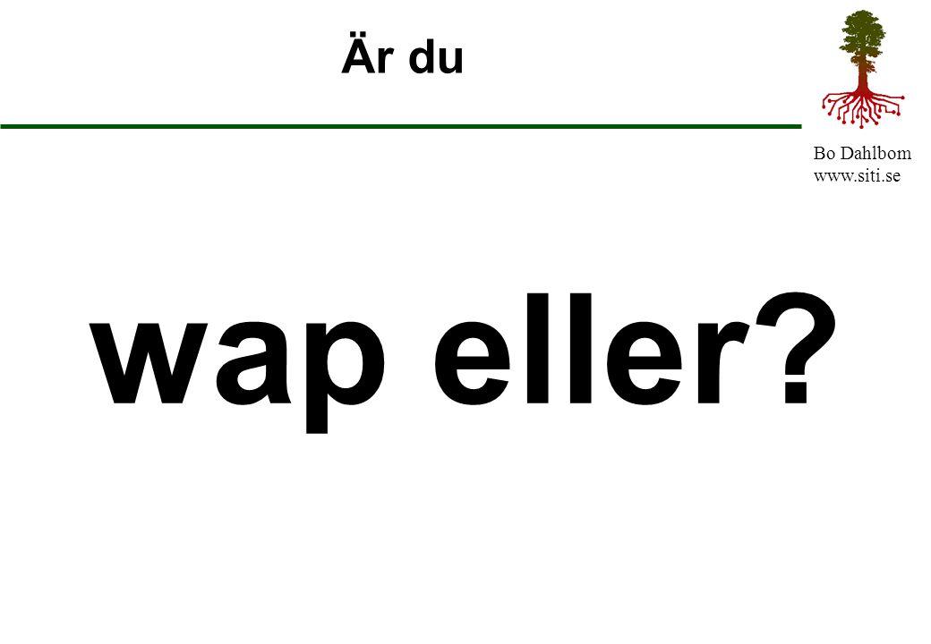 Bo Dahlbom www.siti.se Är du wap eller?