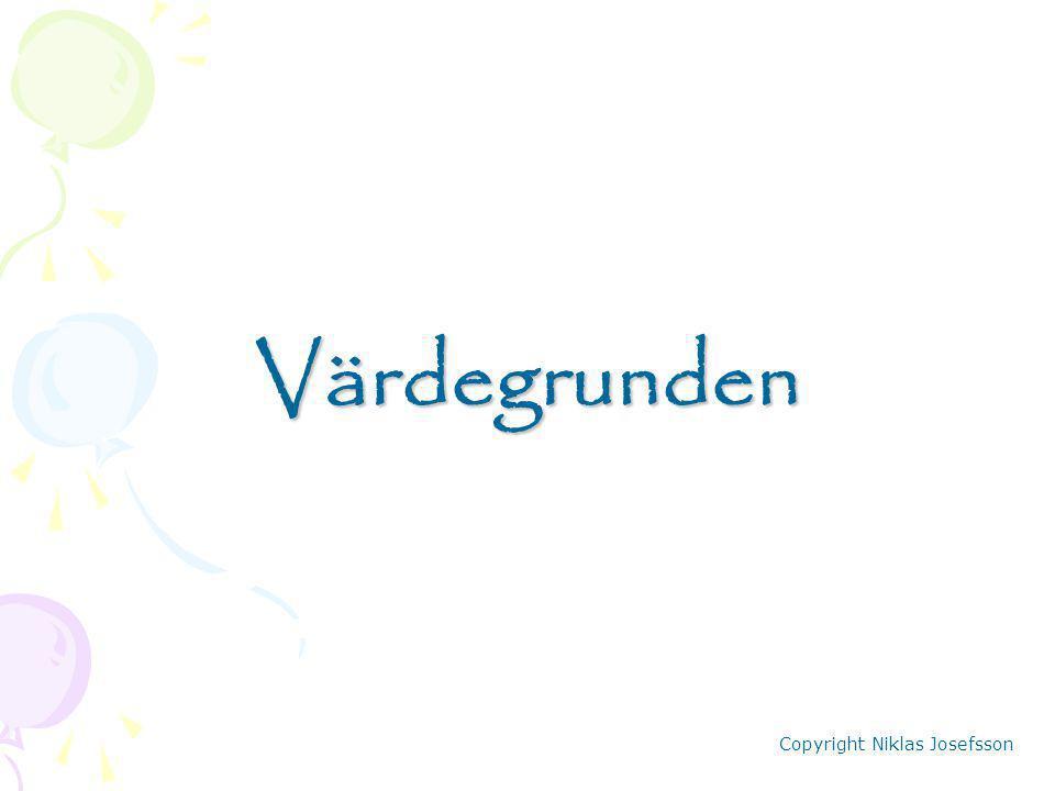 Värdegrunden Copyright Niklas Josefsson