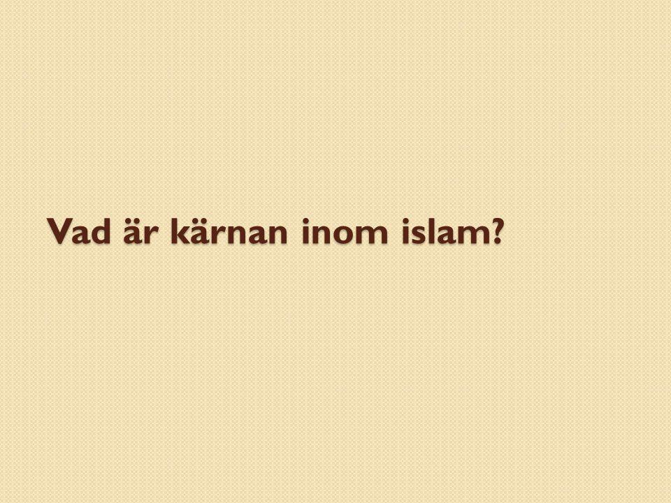 Vad är kärnan inom islam?