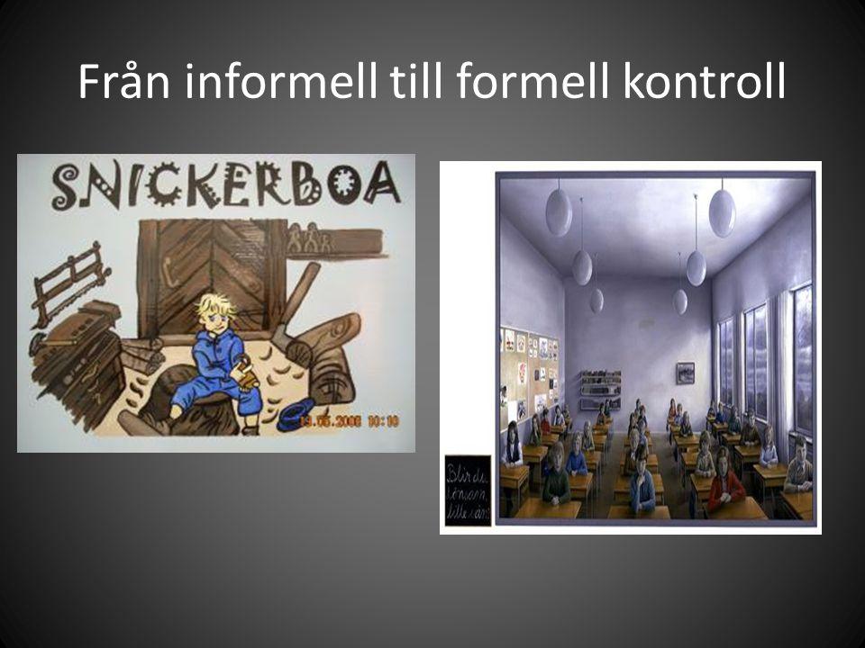 Från informell till formell kontroll