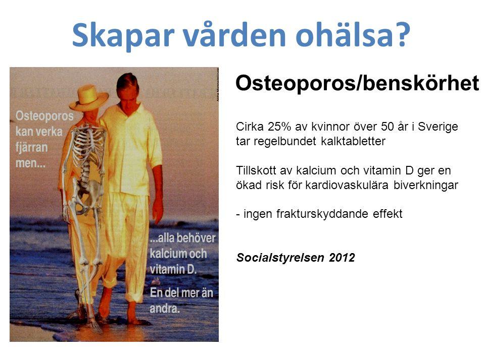 Osteoporos/benskörhet Skapar vården ohälsa.