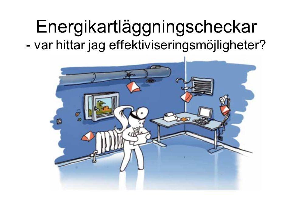 Energikartläggningscheckar - var hittar jag effektiviseringsmöjligheter?