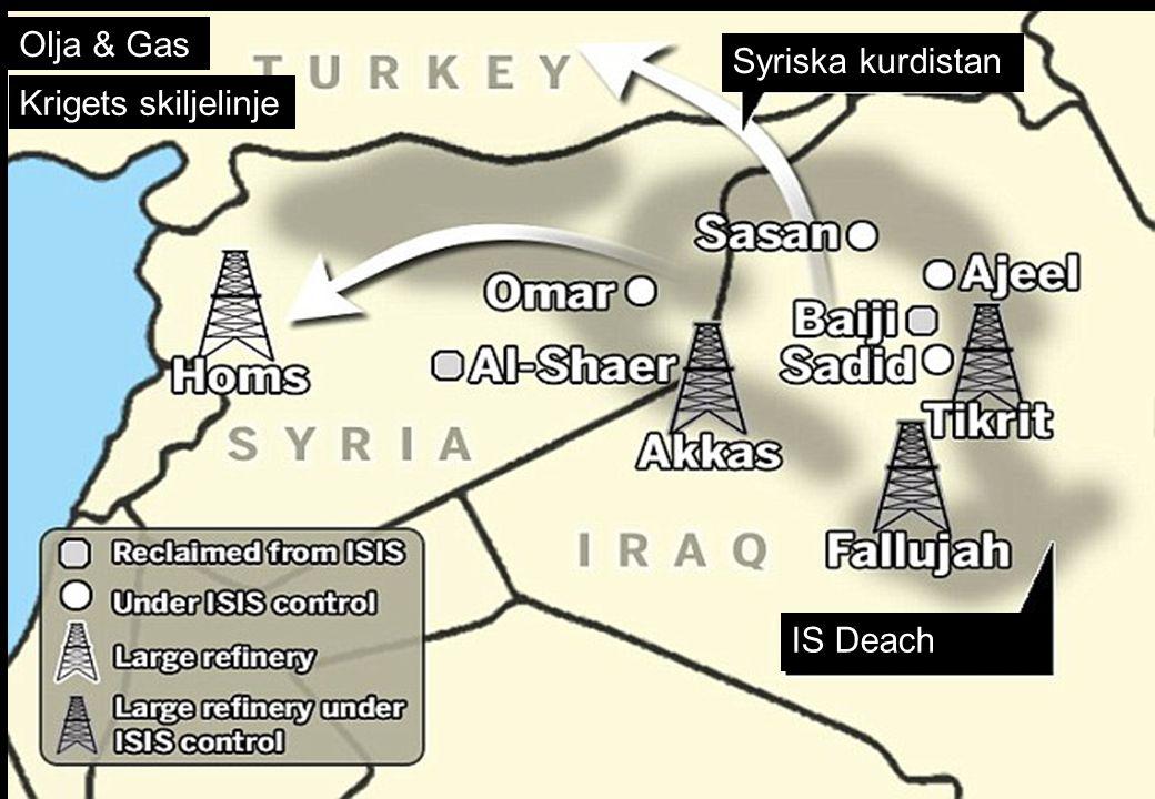 Olja & Gas Krigets skiljelinje Syriska kurdistan IS Deach