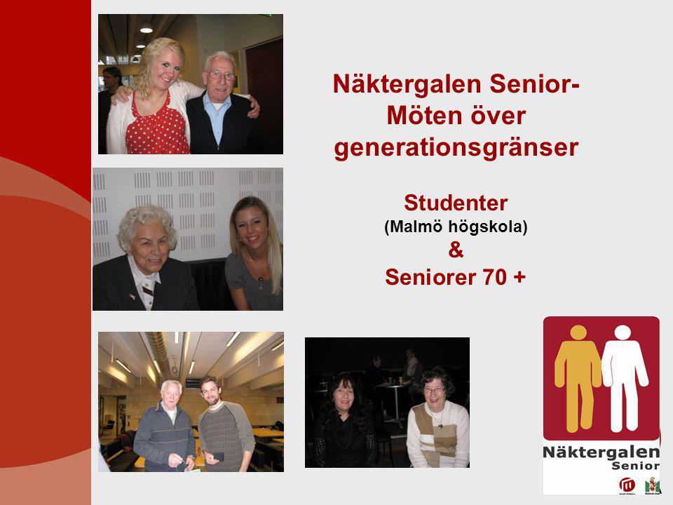 Näktergalen Senior- Möten över generationsgränser Studenter (Malmö högskola) & Seniorer 70 +