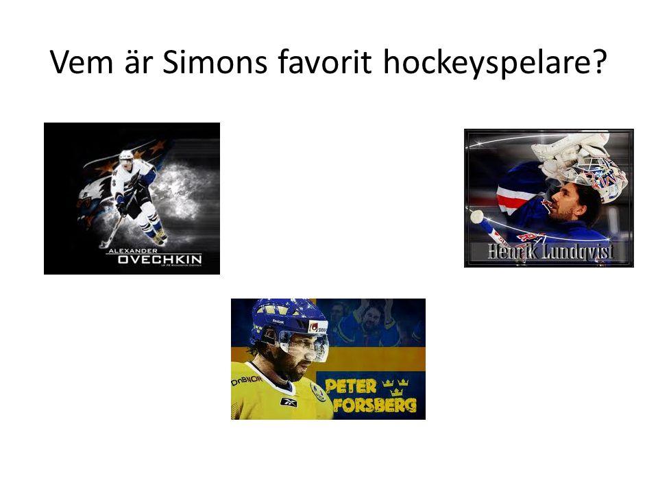 Vem är Simons favorit hockeyspelare?