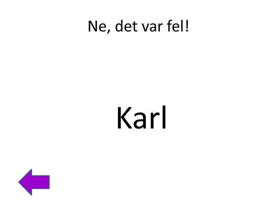 Ne, det var fel! Karl