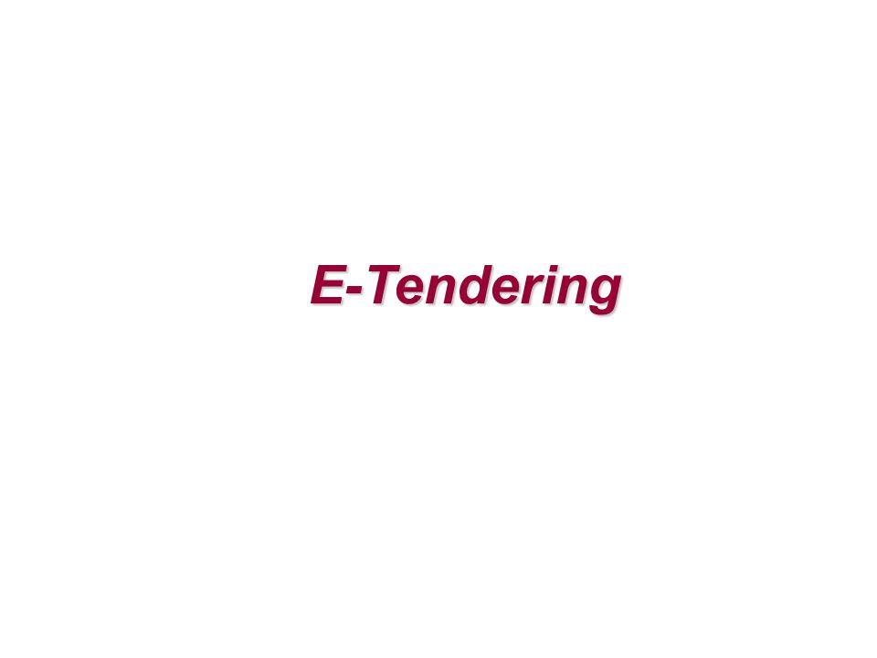 E-Tendering