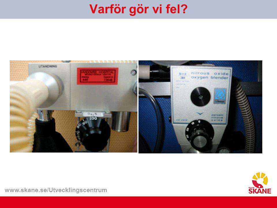 www.skane.se/Utvecklingscentrum Varför gör vi fel?