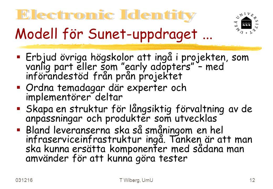 031216T Wiberg, UmU12 Modell för Sunet-uppdraget...