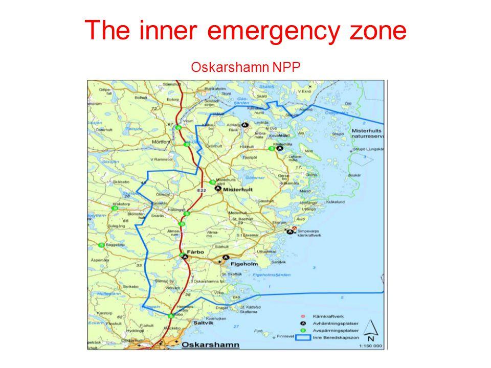 The inner emergency zone Oskarshamn NPP