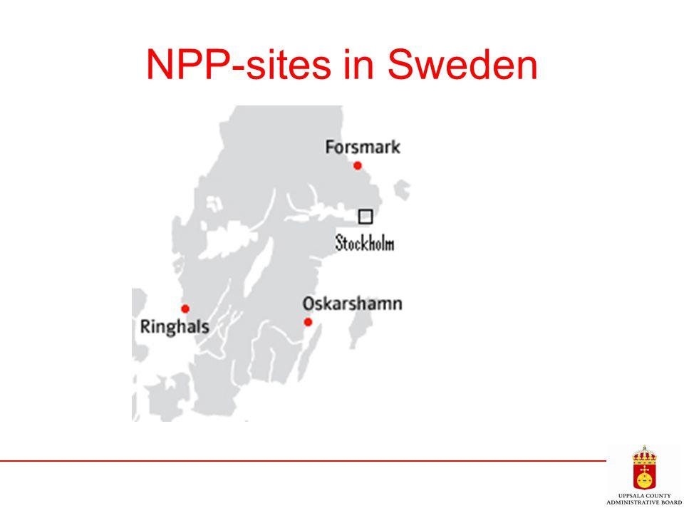 NPP-sites in Sweden