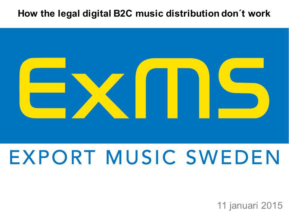 Varför exploderar inte den legala digitala musik distributionen.