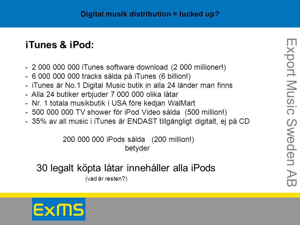 Digital musik distribution = fucked up? Endast USA + UK Napster