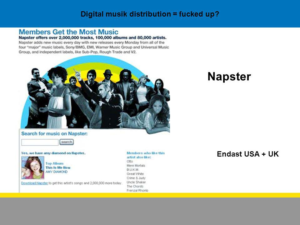 Hur funkar då den digitala musik distributionen.