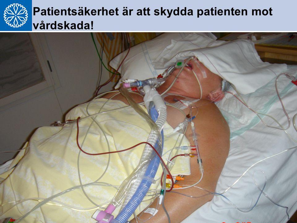 GTT 2009-02-23 6 Patientsäkerhet är att skydda patienten mot vårdskada!