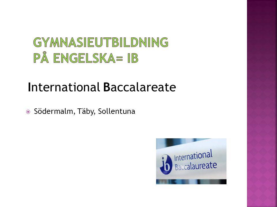 International Baccalareate  Södermalm, Täby, Sollentuna
