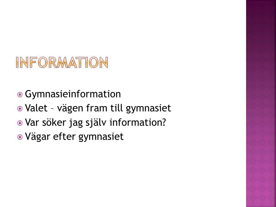YRKESPROGRAM Svenska eller svenska som andra språk MatematikEngelska 5 andra valfria ämnen För grundläggande högskolebehörighet behöver du välja till kurserna Sv 2- 3 och En 6 HÖGSKOLEFÖRBEREDANDE PROGRAM Svenska eller svenska som andraspråk MatematikEngelska + 9 ämnen (beroende på vilket program som söks, se nedan) Ek/Hu/Sa: Ge, Hi, Re, Sh + 5 valfria Natur/Teknik: Bi, Fy, Ke + 6 valfria Estetiska: 9
