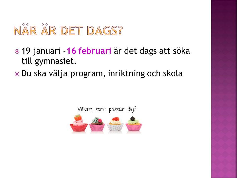  Vanliga program  Lärlingsprogram  Riksintag  Spetsutbildning  Idrottsgymnasium (NIU/RIG)  IB  Introduktionsprogram