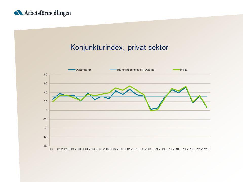 Konjunkturindex, privat sektor