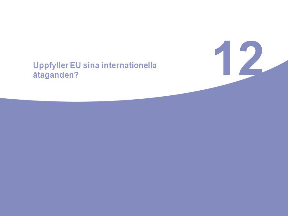 12 Uppfyller EU sina internationella åtaganden?