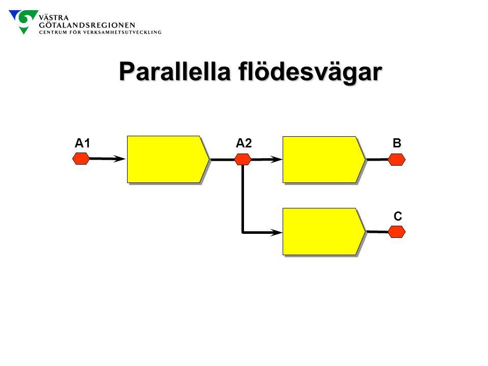 Parallella flödesvägar A1A2B C