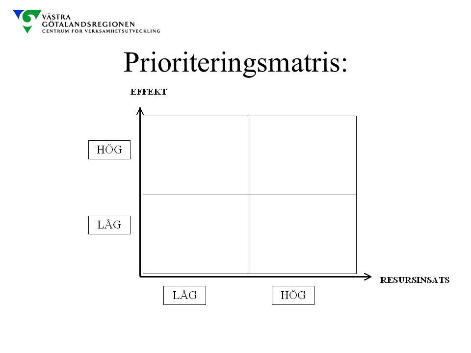 Prioriteringsmatris: